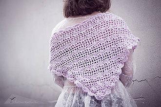Šatky - Ružová pena (Šedá) - 4981409_