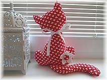 Dekorácie - Srdiečková mačička - 4984347_