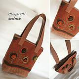 Kabelky - Vlnená kabelka-oranžová - 4984128_