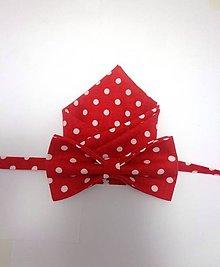 Doplnky - Set motýlik a vreckovka do saka šVecičky - 4982319_