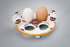 Nádoby - Stojánek na 4 kraslice barevně malovaný - 4983619_