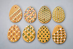 Dekorácie - Kraslice malovaná žlutá - 4983993_