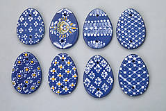 Dekorácie - Kraslice malovaná modrá - 4984072_