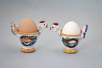 Nádoby - Slepička - stojánek na kraslici barevně malovaná - 4983722_