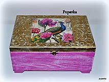 Krabičky - Pávia krása - 4982960_