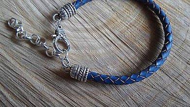 Šperky - pánsky kožený náramok - 4984624_