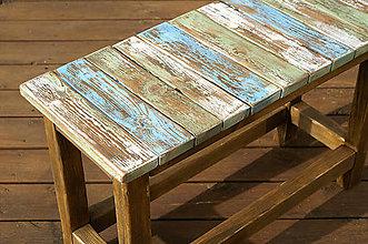 Nábytok - Patinovaná lavička bez spodnej police - 4983907_