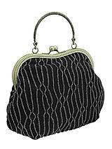 Kabelky - Spoločenská kabelka čierno strieborná 1095 -01 - 4987770_