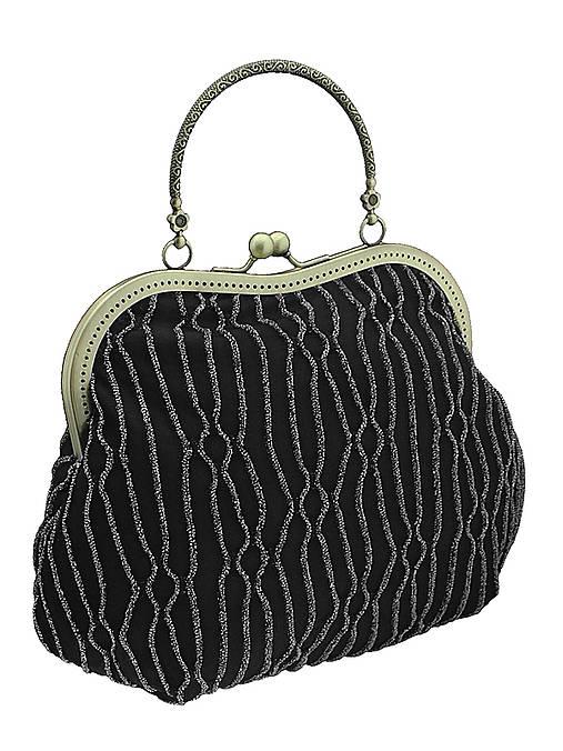 Spoločenská kabelka čierno strieborná 1095 -01
