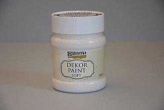 Farby-laky - Dekor soft paint, krémovo biela, 230 ml - 4989287_