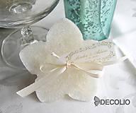 Darčeky pre svadobčanov - Darček pre hostí - plávajúca sviečka P03 - 4987873_