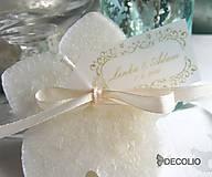 Darčeky pre svadobčanov - Darček pre hostí - plávajúca sviečka P03 - 4987875_