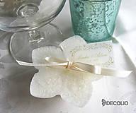Darčeky pre svadobčanov - Darček pre hostí - plávajúca sviečka P03 - 4987876_