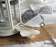 Darčeky pre svadobčanov - Darček a menovka - plávajúca sviečka P04 - 4987927_