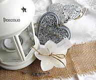 Darčeky pre svadobčanov - Darček a menovka - plávajúca sviečka P04 - 4987931_