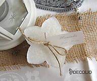 Darčeky pre svadobčanov - Darček a menovka - plávajúca sviečka P04 - 4987933_