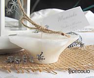 Darčeky pre svadobčanov - Darček a menovka - plávajúca sviečka P04 - 4987934_