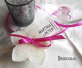 Darčeky pre svadobčanov - Darček pre hostí - plávajúca sviečka P02 - 4987636_