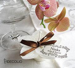 Darčeky pre svadobčanov - Darček a menovka - plávajúca sviečka P01 - 4987810_