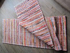 Úžitkový textil - tkaný koberec - oranžový melír 70 x 200 cm - 4985829_