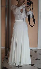 Šaty - Romantické spoločenské šaty s dlhým rukávom rôzne farby - 4986515_