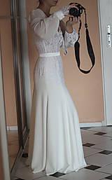 Šaty - Romantické spoločenské šaty s dlhým rukávom rôzne farby - 4986517_