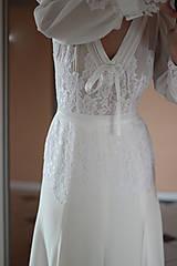 Šaty - Romantické spoločenské šaty s dlhým rukávom rôzne farby - 4986518_