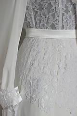 Šaty - Romantické spoločenské šaty s dlhým rukávom rôzne farby - 4986523_