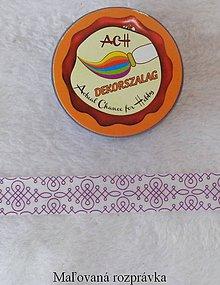 Papier - Dekoračná páska 15mm x 10m- Fialový ornament - 4988415_
