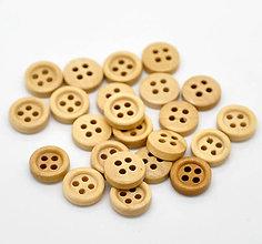 Galantéria - Drevený gombíček 11mm - 4985576_