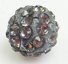 Korálky - Disco gulôčky 10mm čierne - 4985588_