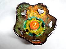 Svietidlá a sviečky - Srdiečkový svietnik - 4987397_