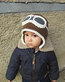 Detské čiapky - Malý letec... - 4985406_