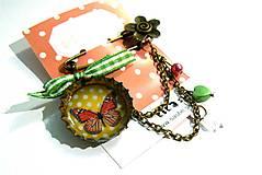 Odznaky/Brošne - Brošňa s motýľom - 4994298_