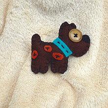 Odznaky/Brošne - Doggie dog -modrý obojek - 4989718_