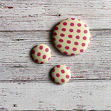Sady šperkov - Náušnice a brošňa Créme pink - 4994540_