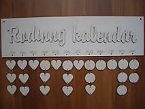 Polotovary - Rodinný kalendár 2 - tabuľka - 4993134_