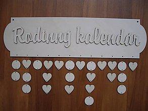 Dekorácie - Rodinný kalendár 1 - 4993237_