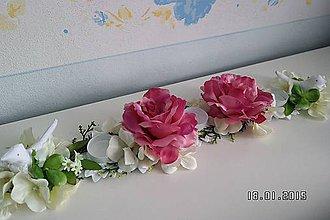Svietidlá a sviečky - Svietnik na 3 sviečky...hortenzie, ruže a spev vtáčikov... - 4991536_