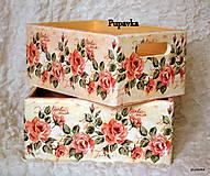 Nádoby - Ružové snenie prepravka - 4990112_
