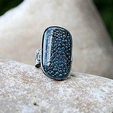 Prstene - Tmavomodré sklo prsteň - 4993902_