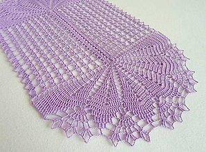 Úžitkový textil - Oválna dečka, fialová f. - 4991586_