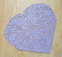 Úžitkový textil - Filetové srdce, veľké, fialová f. - 4991644_