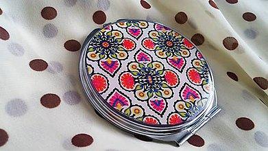 Zrkadielka - Zrkadielko kabelkové s krásnym vzorom - 4991162_