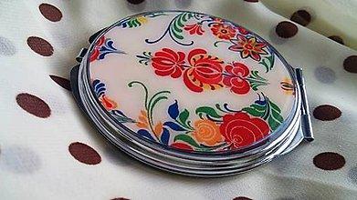 Zrkadielka - Zrkadielko kabelkové s folk vzorom - 4991171_