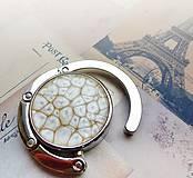 Pomôcky - háček na kabelku Jemné béžové pohlazení - 4993320_