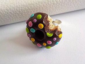 Náušnice - lentilkový donut (prsteň) - 4993828_