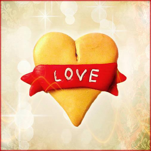 Zlatá a elegantná láska - magnetka