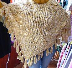 Iné oblečenie - pletené pončo TEDDY - 4996997_