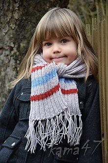 Detské doplnky - Šál - detský či dospelácky... farebné pruhy - 4998311_